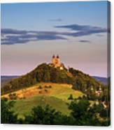 Upper Church With Two Towers In Banska Stiavnica, Slovakia Canvas Print