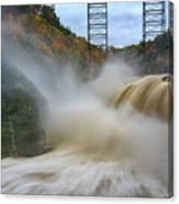 Upper Falls After A Storm Canvas Print