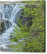 Upper Falls At Mine Kill State Park Canvas Print