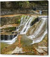 Upper Gorge Falls Of Enfield Glen In Treman State Park Canvas Print