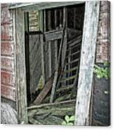 Upper Hoist Doorway Canvas Print