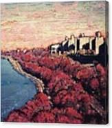Upper Manhattan Along The Hudson River Canvas Print