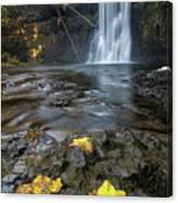 Upper North Falls In Autumn Canvas Print