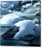 Upper Provo River In Winter Canvas Print