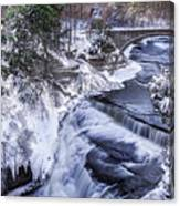 Upper Taughannock Winter Canvas Print