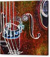 Upright Bass Close Up Canvas Print