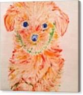 Upright Puppy Canvas Print