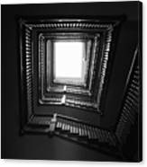 Upstairs- Black And White Photography By Linda Woods Canvas Print