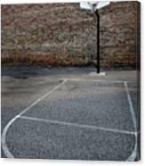 Urban Basketball Street Ball Outdoors Canvas Print