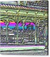 Urban Boat Landing Canvas Print