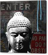 Urban Buddha 4- Art By Linda Woods Canvas Print