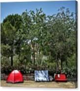 Urban Camping Canvas Print