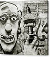 Urban Clown Canvas Print