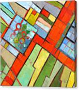 Urban Composition - Abstract Zoning Plan Canvas Print