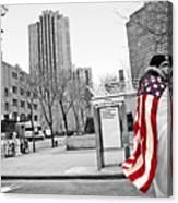 Urban Flag Man Canvas Print