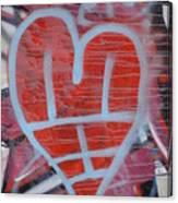 Urban Heart Canvas Print