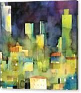 urban landscape 11 - le torri di San Gimignano Canvas Print
