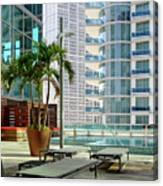 Urban Landscape, Miami, Florida Canvas Print