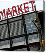 Urban Market Canvas Print
