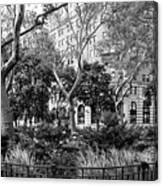 Urban Pocket Park Canvas Print