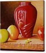 Urn An Apple Canvas Print