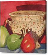 Urn With Pears Canvas Print