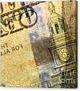 Us 100 Dollar Bill Security Features, 6 Canvas Print