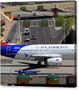 Us Airways Airbus A319-132 N826aw Arizona At Phoenix Sky Harbor March 16 2011 Canvas Print