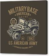Us American Amry Jeep Canvas Print