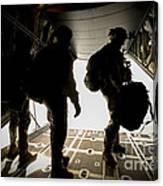 U.s. Army Green Berets Wait To Jump Canvas Print