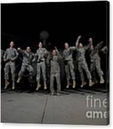 U.s. Army Pilots & Crew Chiefs Jump Canvas Print