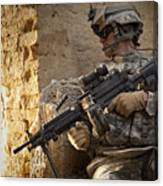 U.s. Army Ranger In Afghanistan Combat Canvas Print