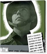 Vintage Us Army Recruiting Poster Canvas Print