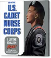 Us Cadet Nurse Corps - Ww2 Canvas Print