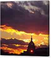 U.s. Capitol Dome At Sunset Canvas Print