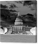 Us Capitol Washington Dc Negative Canvas Print