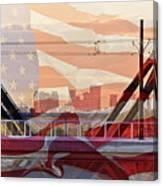 Us City Canvas Print