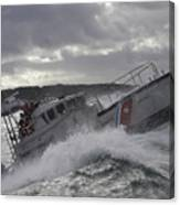 U.s. Coast Guard Motor Life Boat Brakes Canvas Print