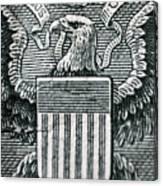 Us Dollar Eagle Canvas Print