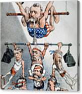 U.s. Grant Cartoon, 1880 Canvas Print
