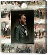 Us Grant's Career In Pictures Canvas Print