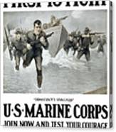 Us Marine Corps - First To Fight  Canvas Print