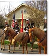 U.s. Marine Corps Leading The Krewe Of Proteus, Mardi Gras, New Orleans, 2017 Canvas Print