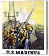Us Marines -- First To Fight For Democracy Canvas Print