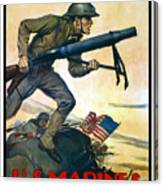 Us Marines - First In France Canvas Print