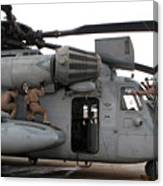 U.s. Marines Perform Preflight Checks Canvas Print