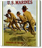 Us Marines - Soldiers Of The Sea Canvas Print