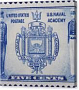 Us Naval Academy Postage Stamp Canvas Print