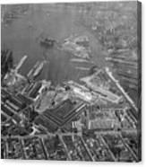 U.s. Naval Yard In Brooklyn Ny Photograph - 1932 Canvas Print