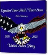 Us Navy Desert Storm Canvas Print